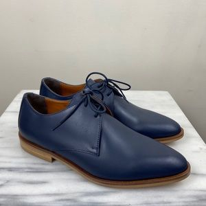 NEW Everlane Navy Blue Modern Oxford Loafers